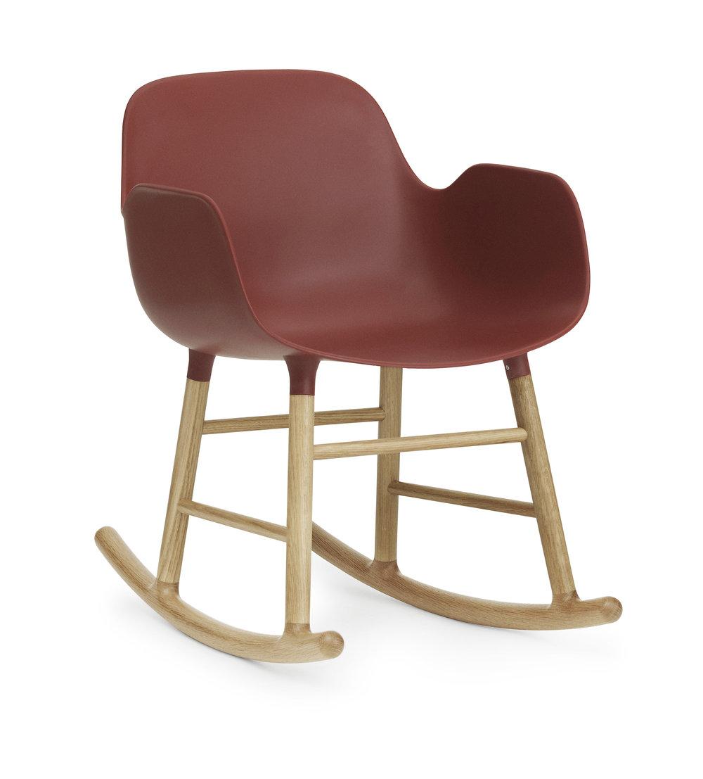 Form Arm Rocking Chair W/ Oak Legs