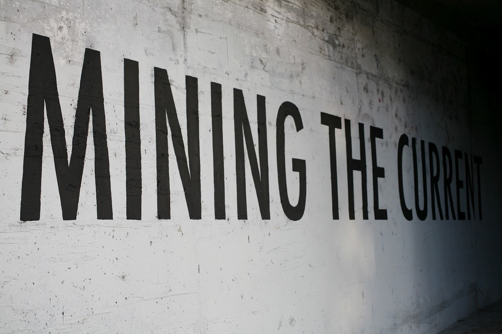 MINING THE CURRENT (detail)  intervention, los angeles, ca  2012