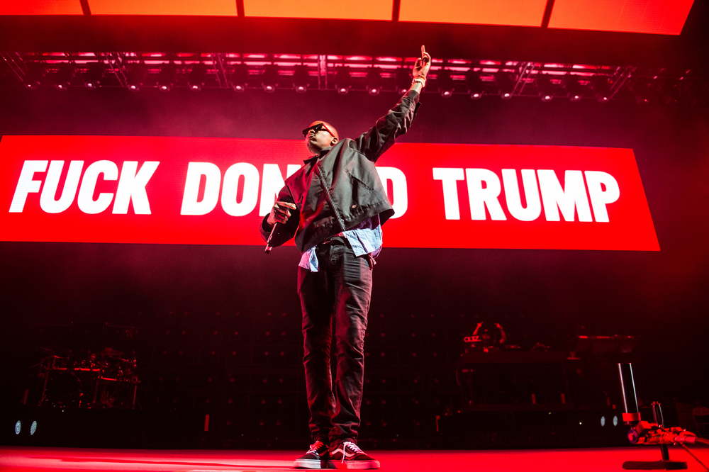 YG performing Fuck Donald Trump, 2016