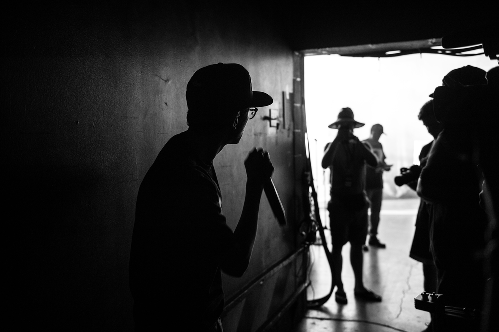 Logic before performing the first show on The Endless Summer Tour