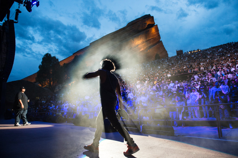 Damian Lemar Hudson performing at Red Rocks
