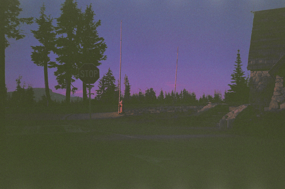 Sunset at Crater Lake shot on film from 1985