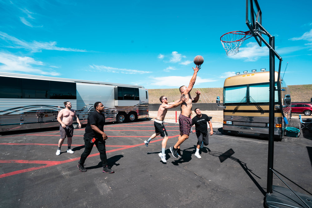 Hooping backstage in OC, 2018