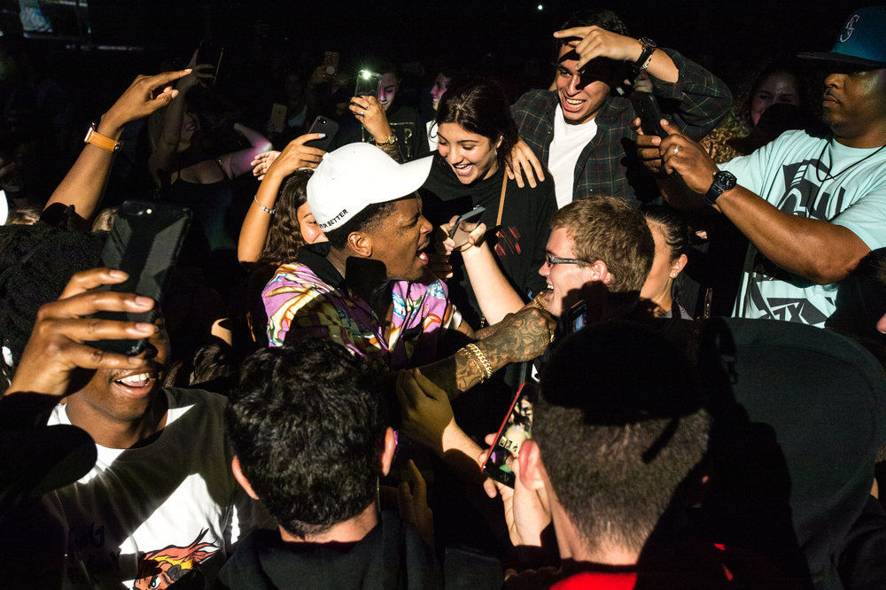YG performing in the crowd, 2017