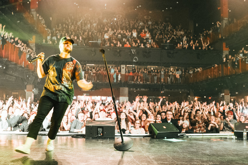 Mike performing to a sold out crowd in Boston, 2018