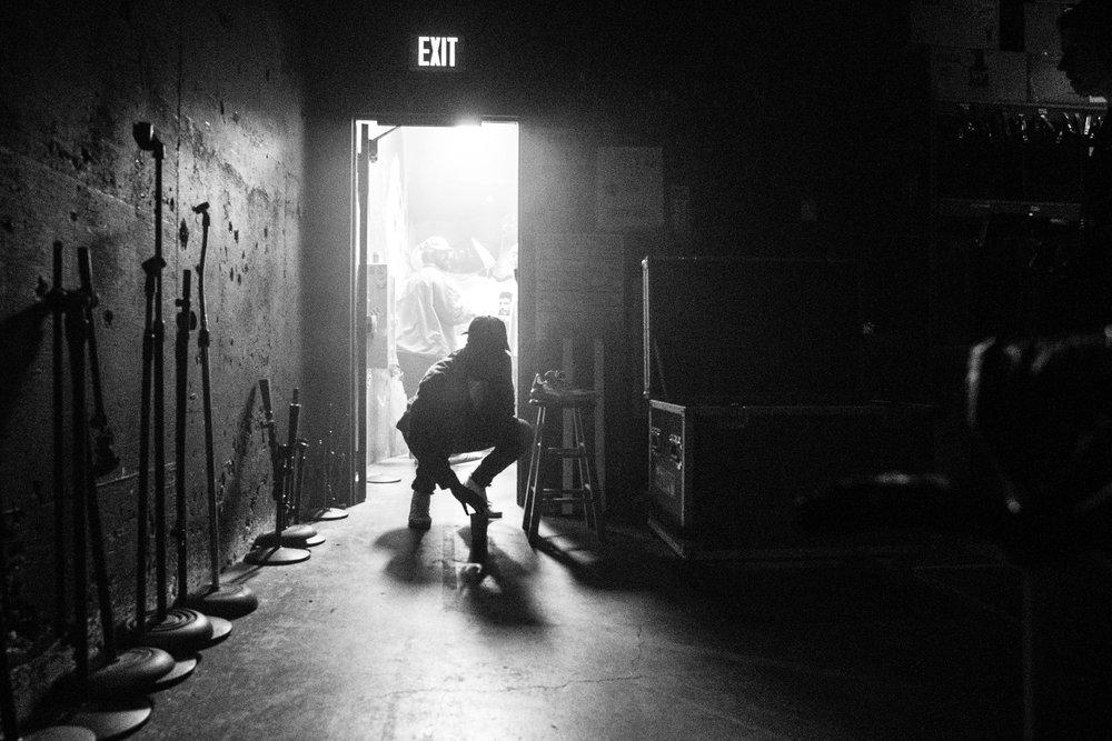 Skizzy backstage in San Diego, 2018