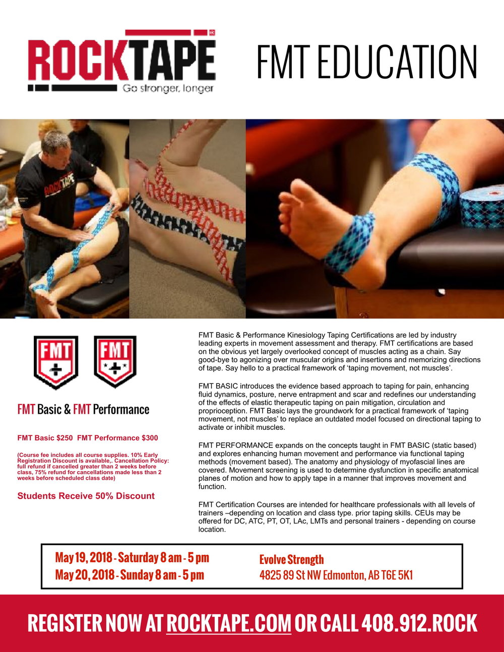 Rocktape Fascial Movement Taping Course Evolve