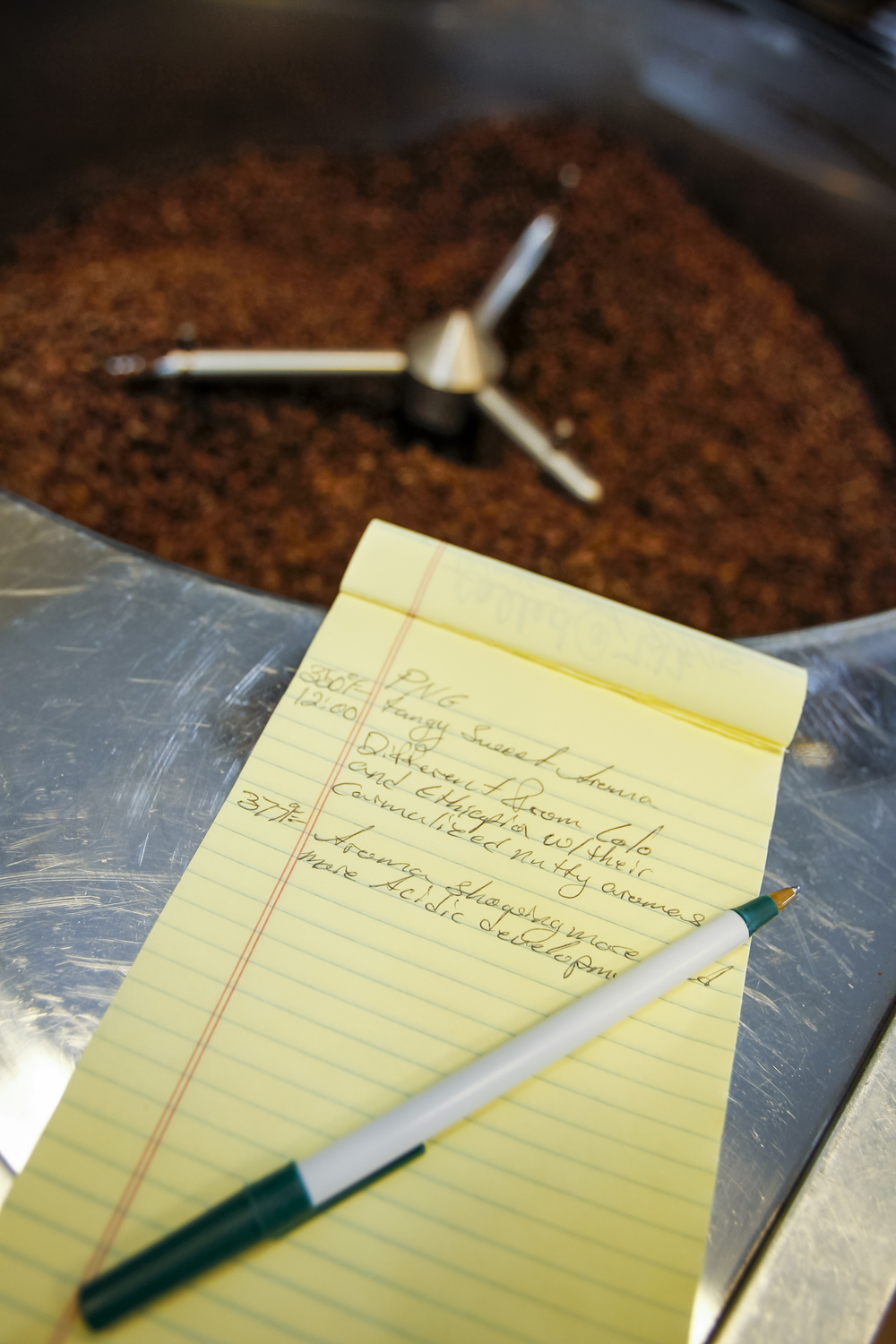 Alan, a customer, has helped us write a custom program to record each roast and the resulting characteristics.