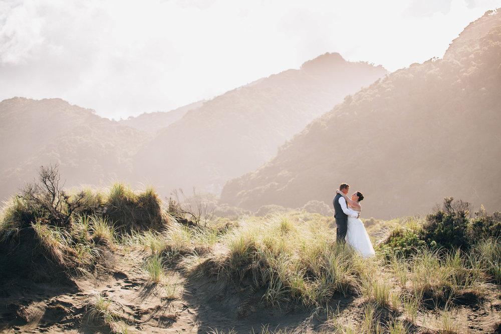 Kare Kare beach wedding West Coast Auckland