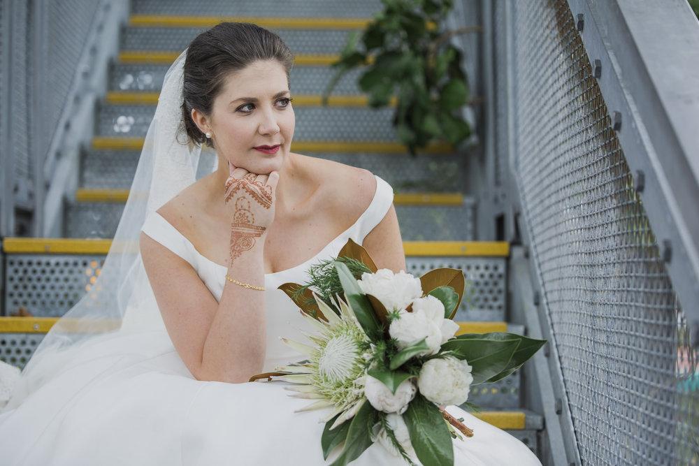 Bride at Silo Park Auckland wedding photo