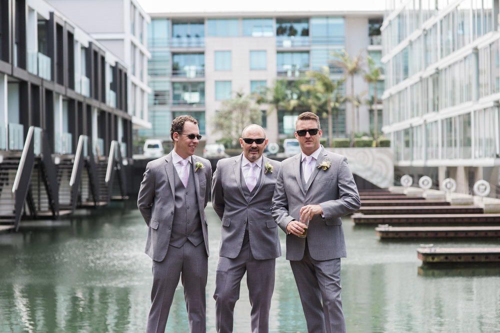 Groomsmen at Sofitel Auckland wedding