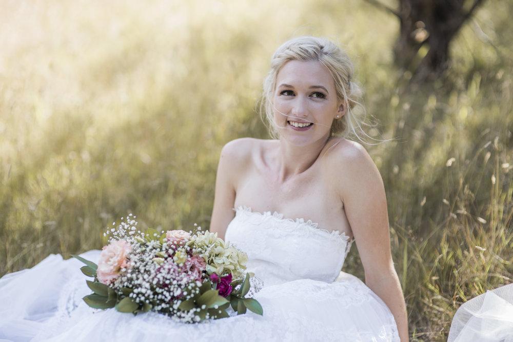 Hunua Falls wedding photo in the fields