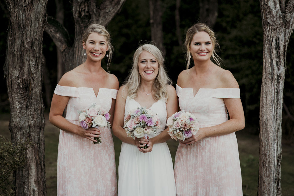 Bridesmaids at Mudbrick wedding