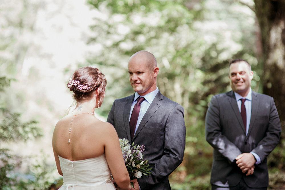 Hunua Falls camp wedding ceremony