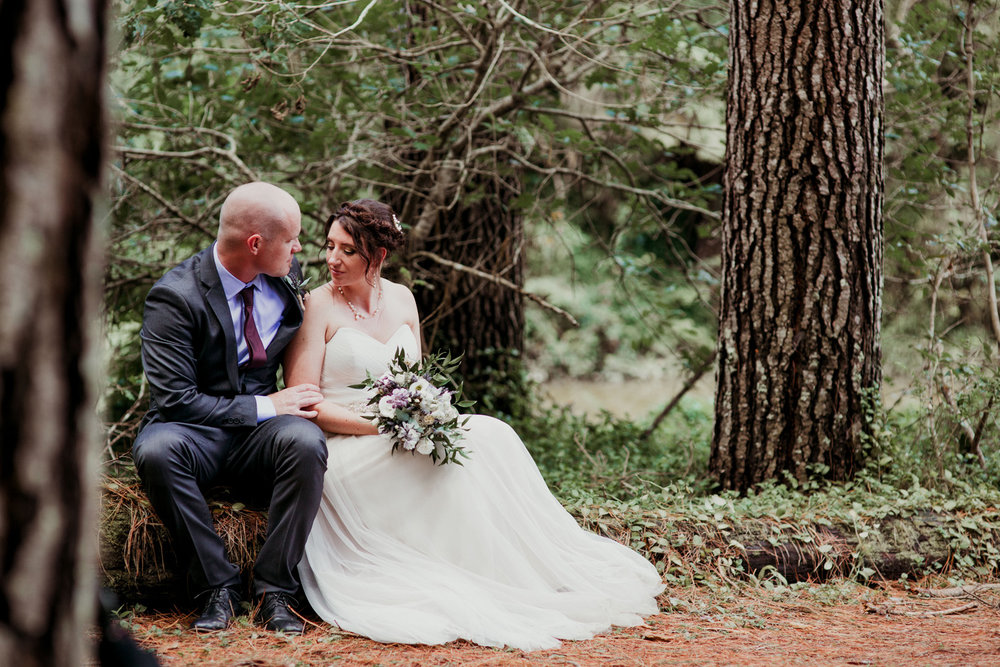 Hunua Falls Camp wedding photo