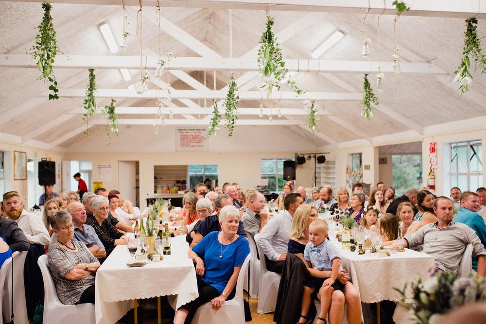 Hunua Falls Camp wedding reception