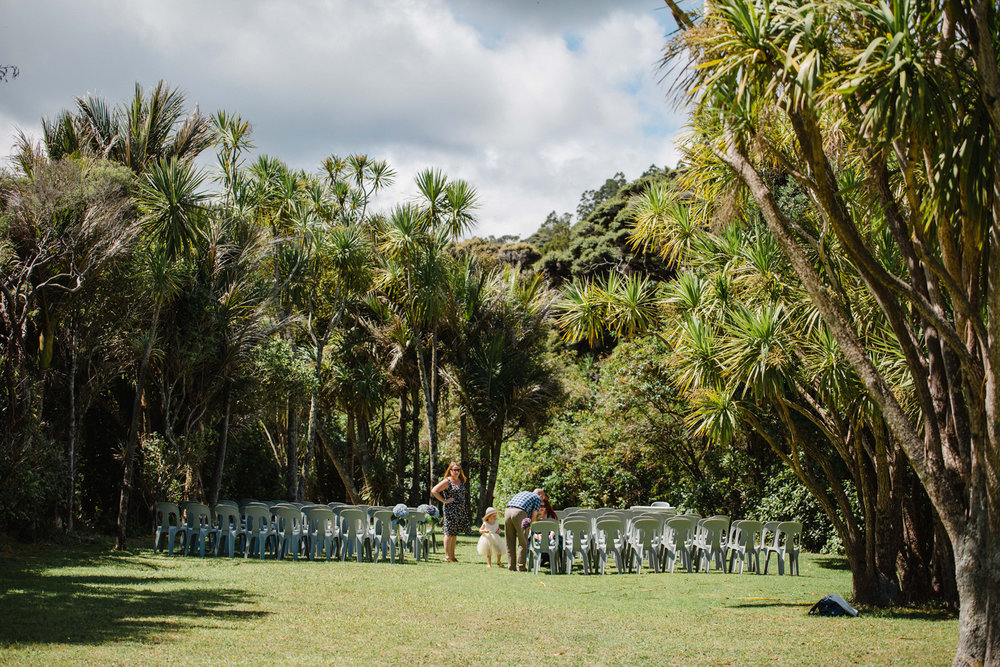 Piha Mill Camp wedding