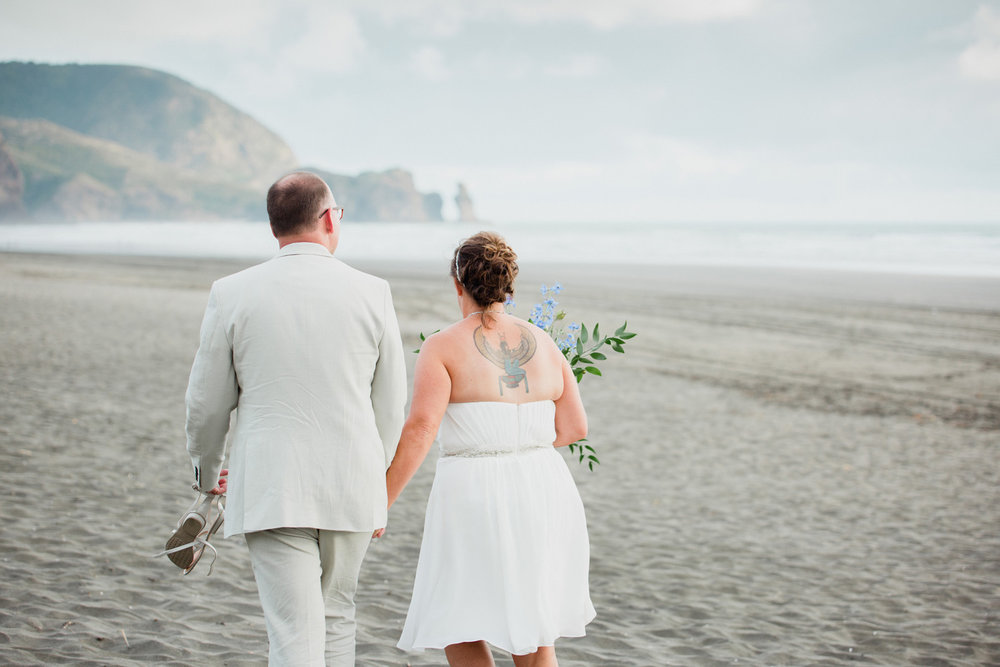 Piha wedding photo