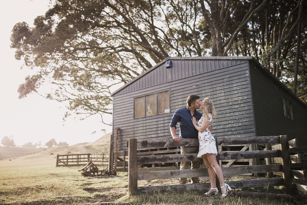 Cornwall Park engagement photo