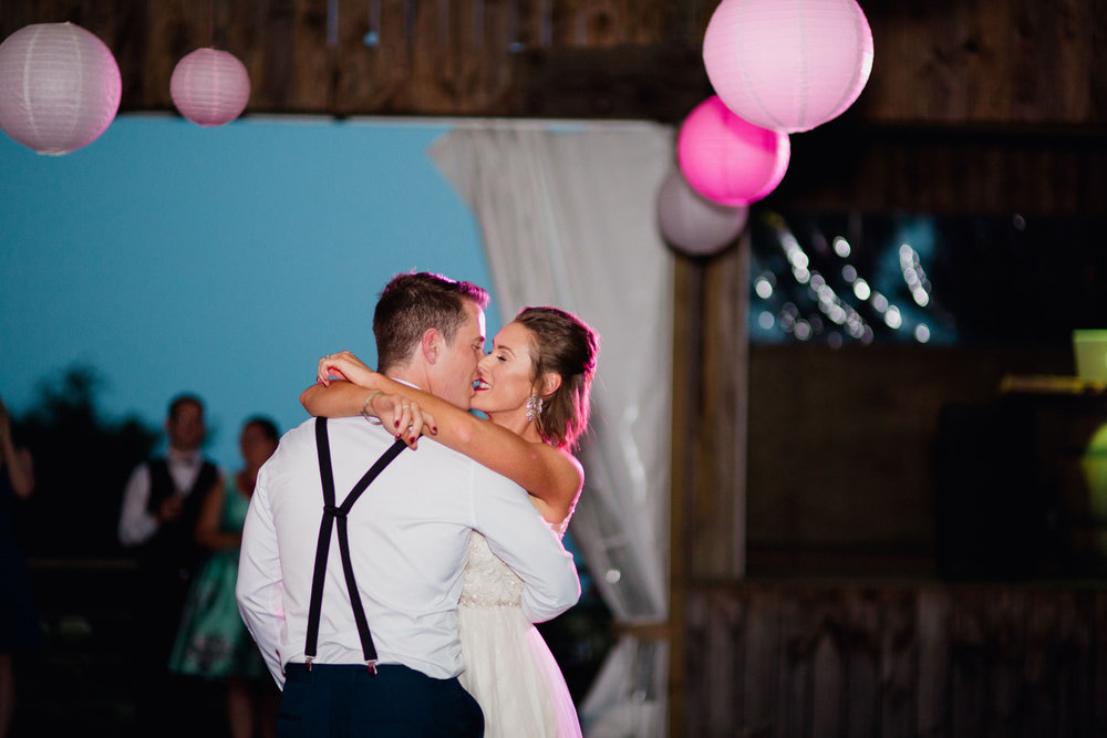 First dance wedding photo at Leadfoot ranch