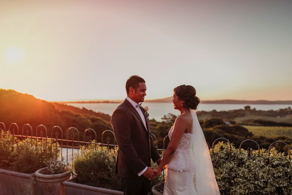 Mudbrick wedding sunset photo