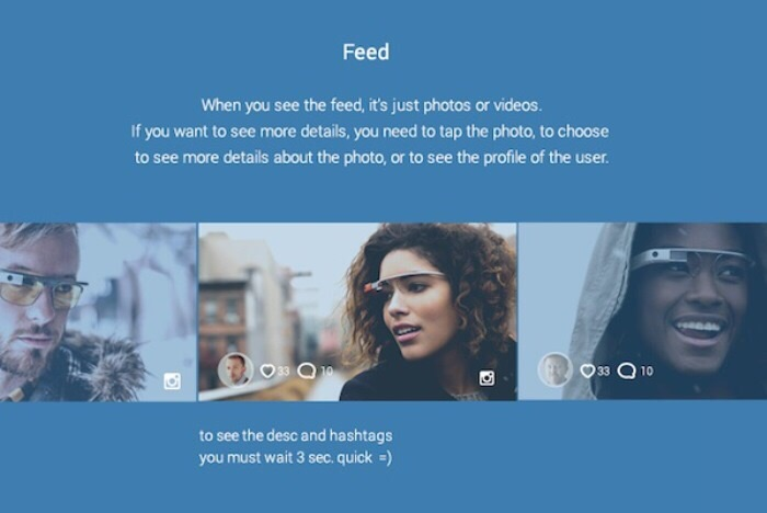 Facebook Feed - Google Glass Interface