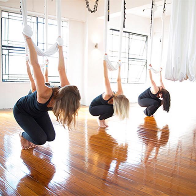 Inspired Adventures Fitness Series Sky Lab Aerial Yoga Sky Lab