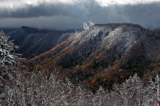 First snow in the Smokies