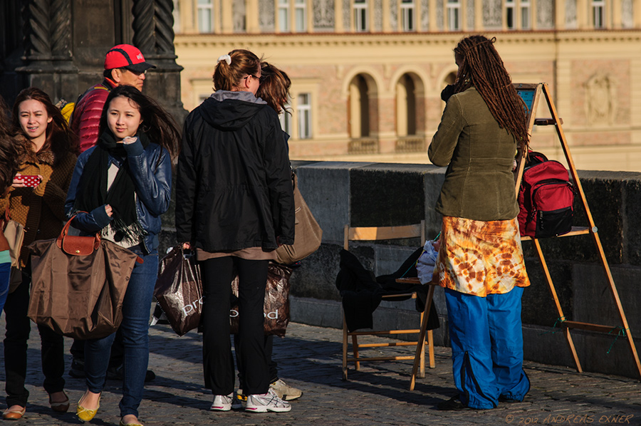 Artist on Charles Bridge