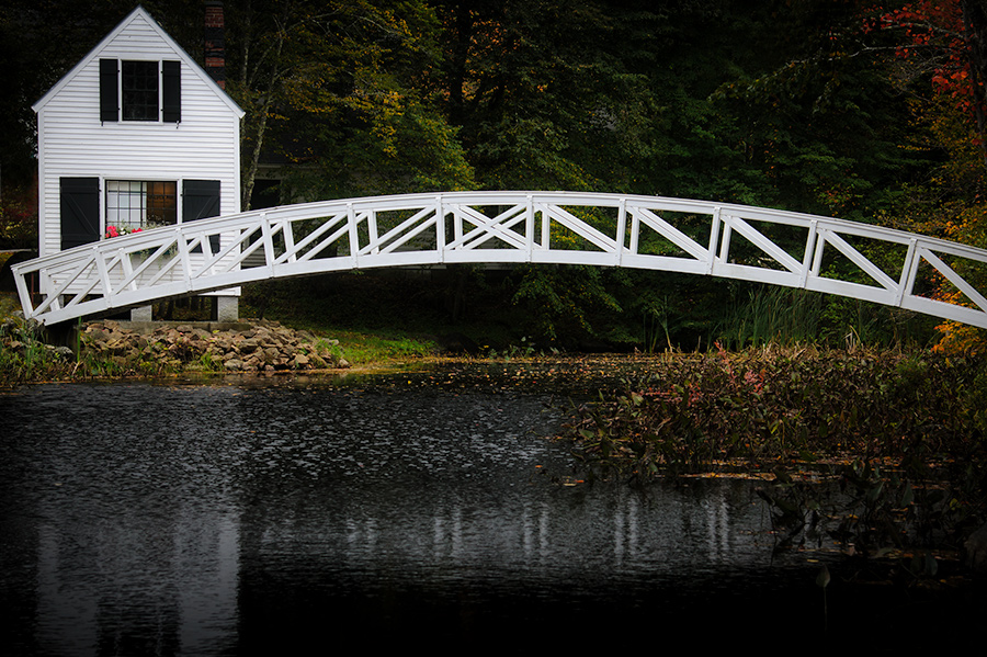 Arched bridge in Somesville, ME
