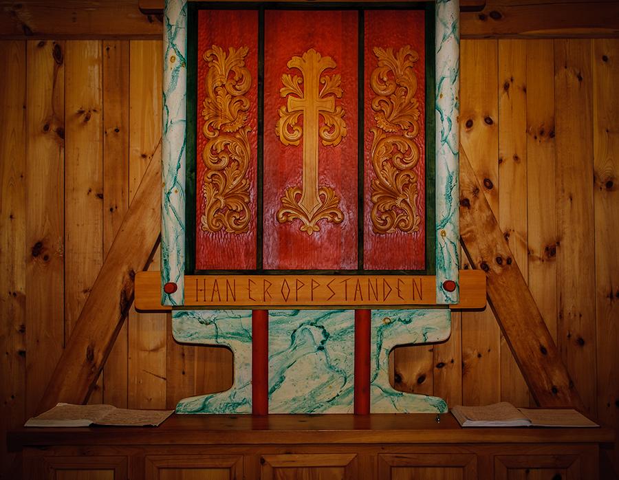 Stavkirke altar