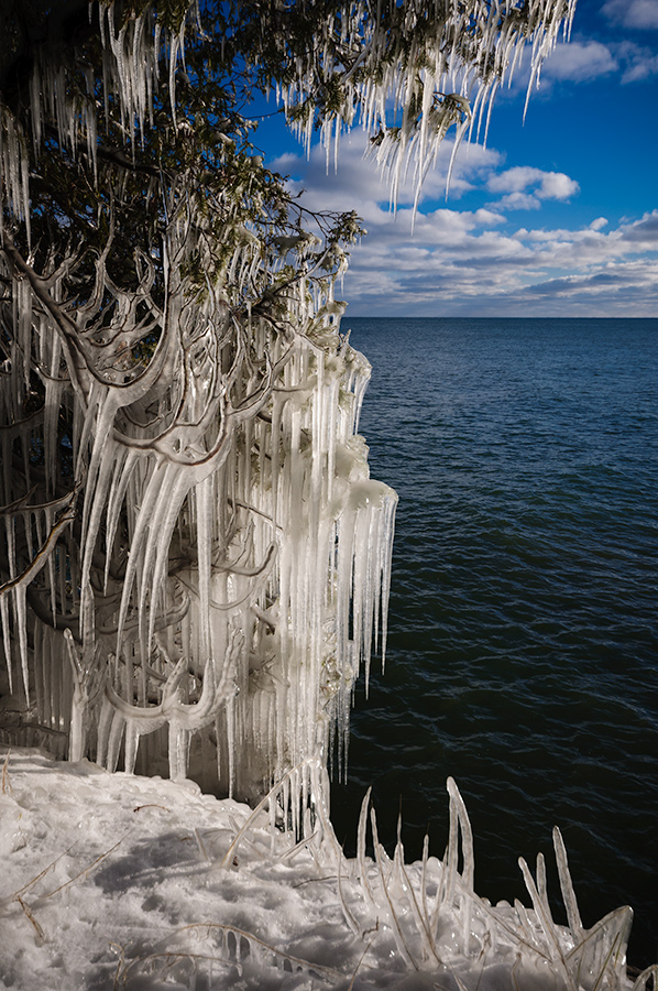 Ice sculpture - Lake Michigan