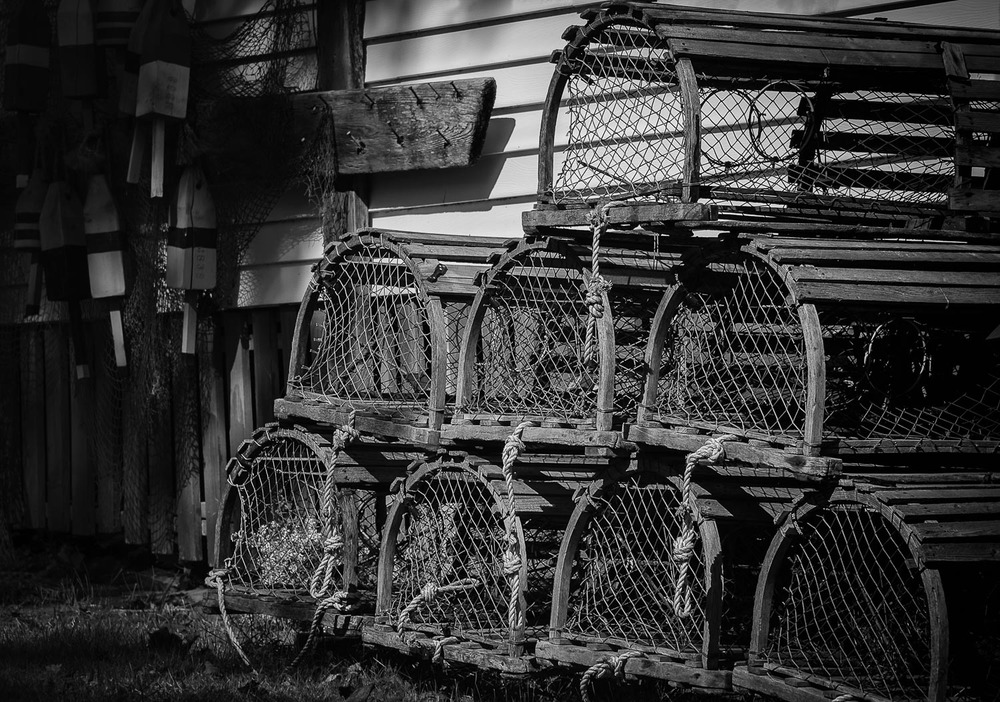 Lobster traps, Boothbay Harbor