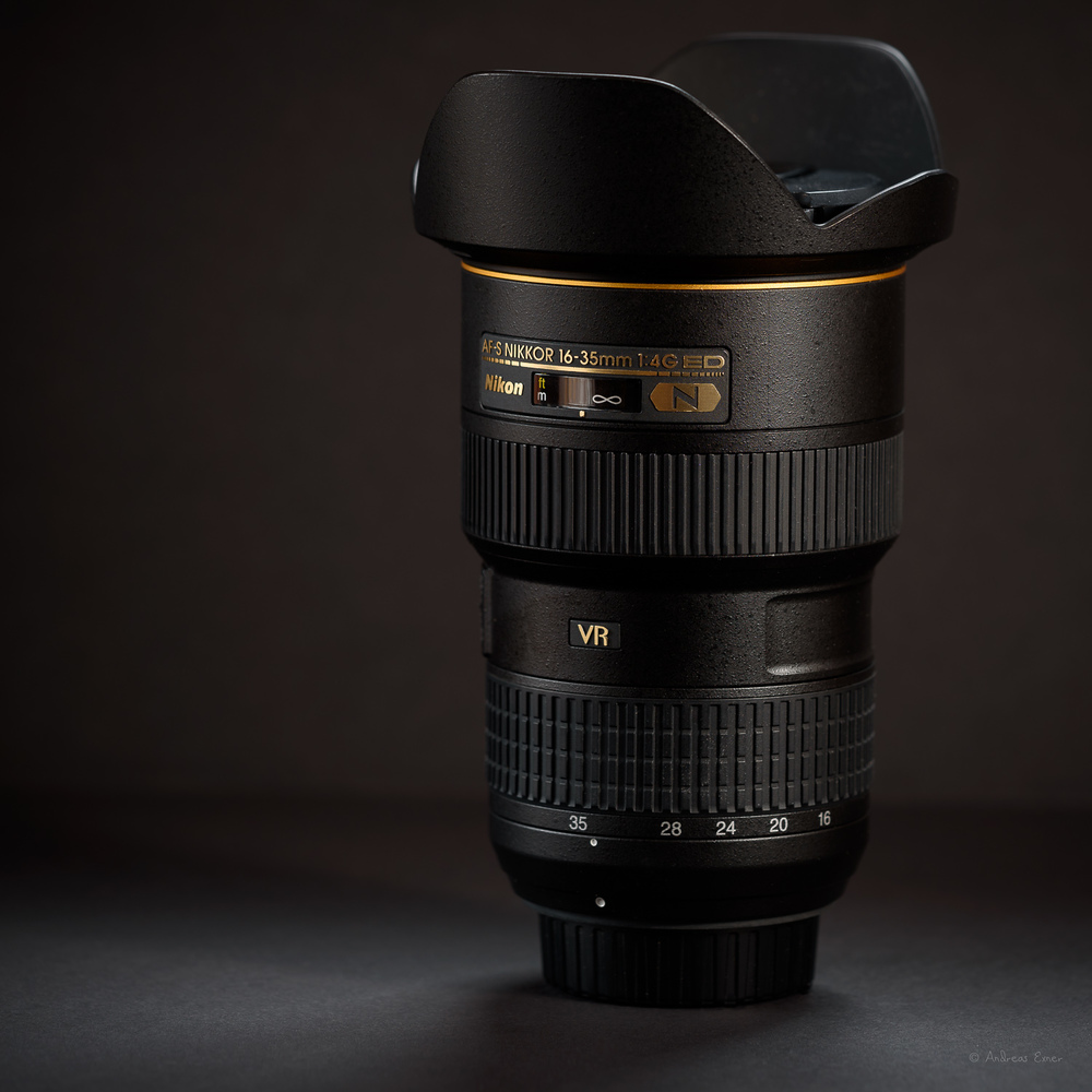 Nikon AF-S NIKKOR 16-35mm f/4G ED VR  This is my favorite for landscape photography. A wicked sharp lens. Highly recommended!  ★ ★ ★ ★ ★