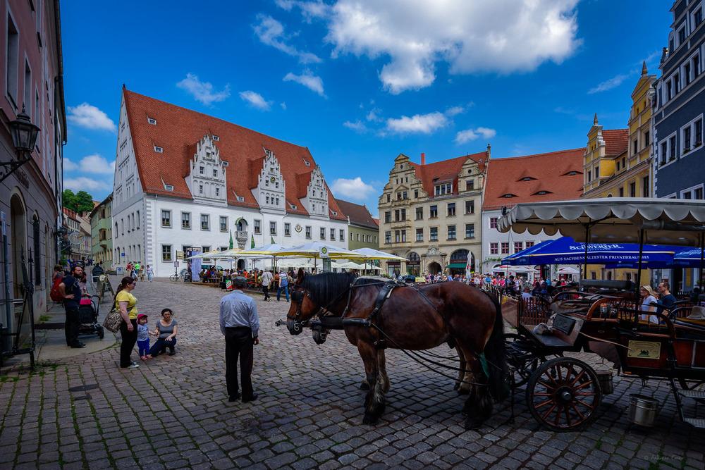Market at Meissen Altstadt