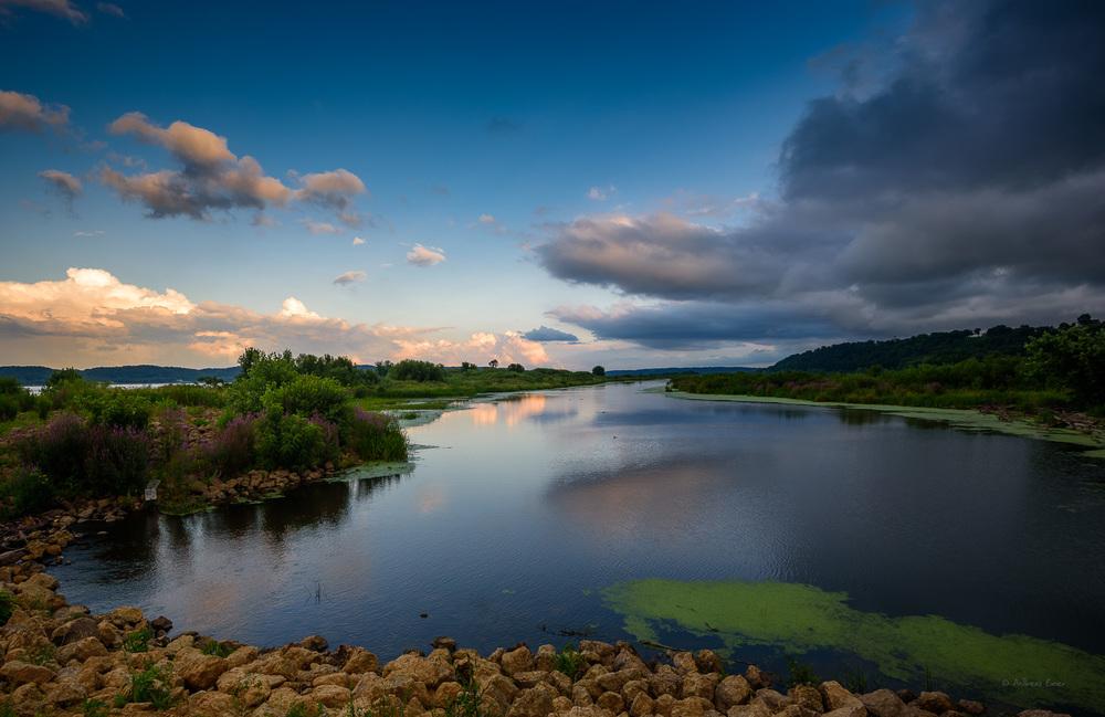 Mississippi river, Mud Lake, Iowa -Nikon D750, Nikkor 16-35mm / f4