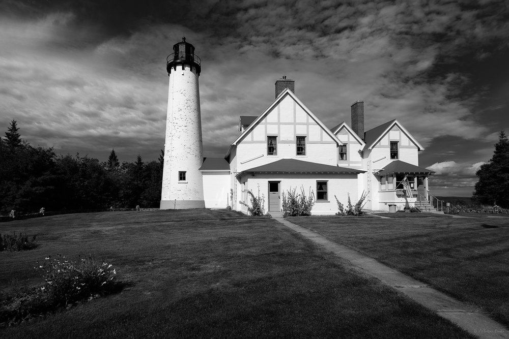 Point Iroquois Light, Lake Superior, Eastern Upper Peninsula, Michigan ---------
