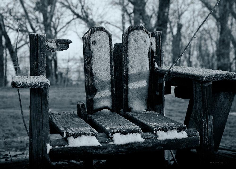 The old chair, Farm in northwest Iowa, December 2016 ----------------