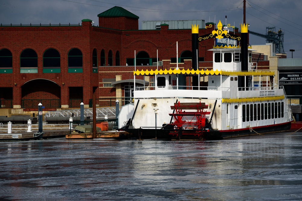 Spirit of Dubuque, Ice Harbor, Dubuque, Iowa, December 2016  ---------