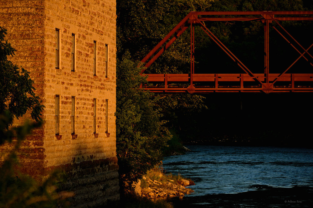 Turkey River, Motor Mill and bridge ---