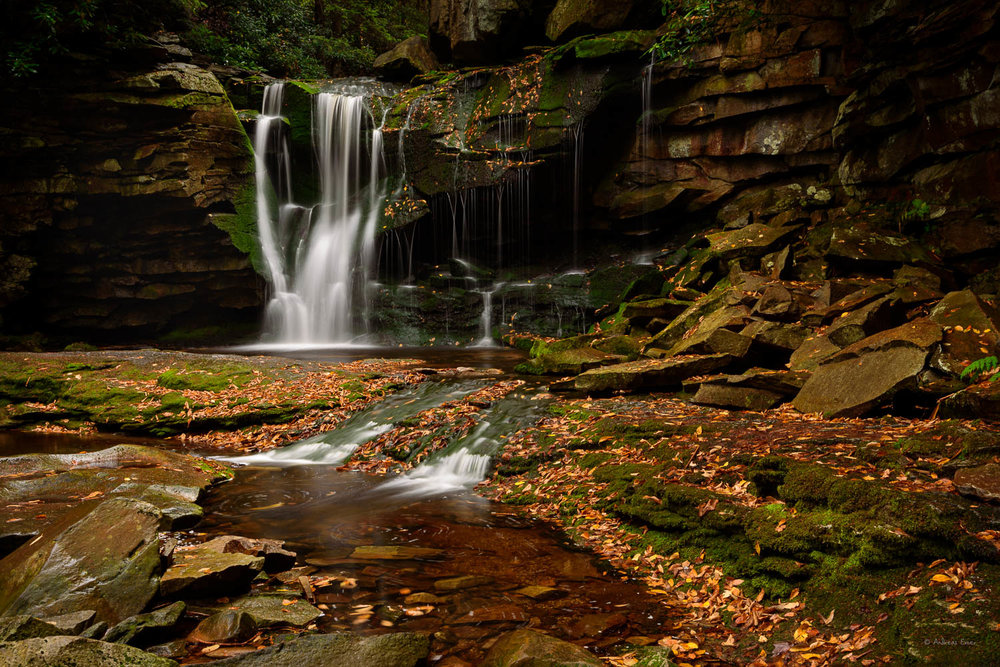 Falls of Elakala, Blackwater Falls State Park, West Virginia -------