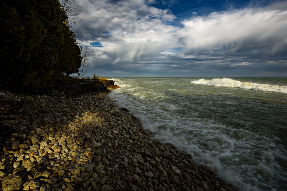 Lake Michigan, Door Peninsula, Wisconsin ------
