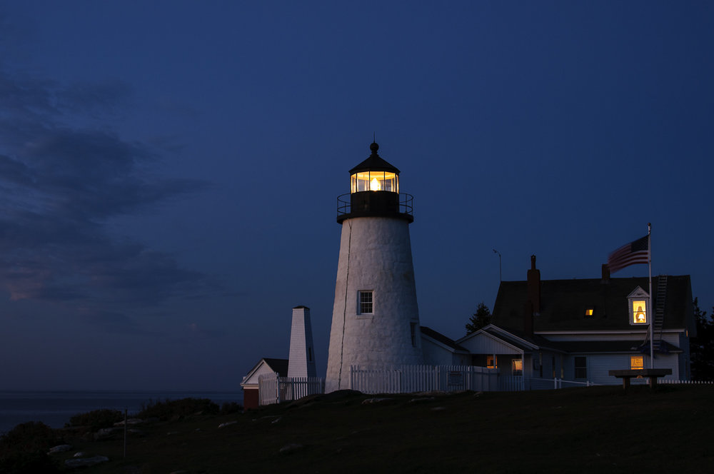 Blue hour, Pemaquid Point Lighthouse