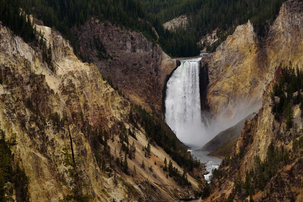 Lower Falls of the Yellowstone River, Grand Canyon of the Yellowstone