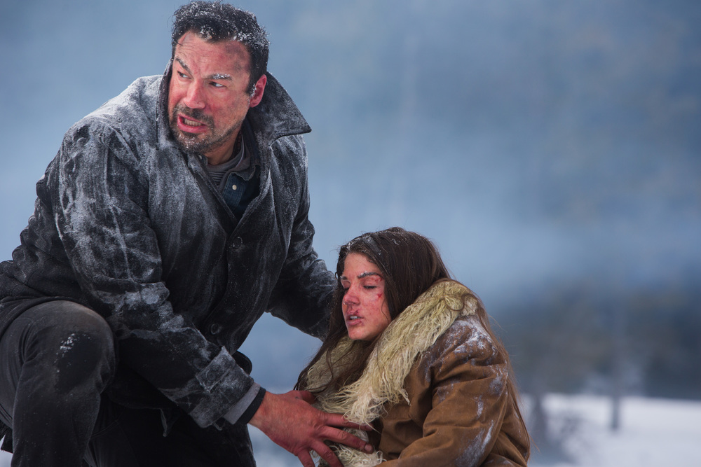 It's a little nippy for Aleks Paunovic and Marie Avgeropoulos in  Numb .