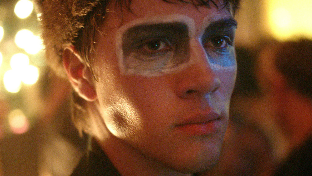 Connor Jessup wears interesting makeup as Oscar Madly in  Closet Monster .