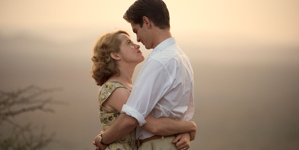 Claire Foy and Andrew Garfield in Breathe.