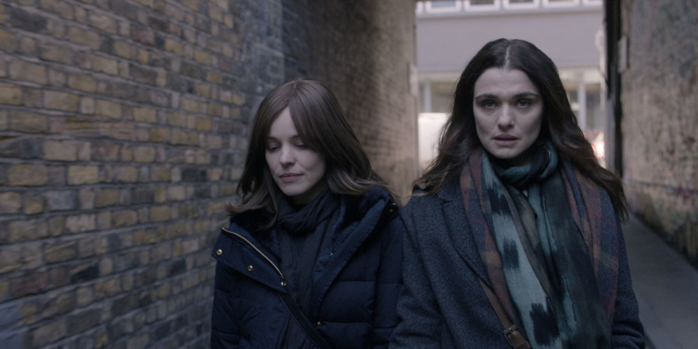 Rachel McAdams and Rachel Weisz in Disobedience.