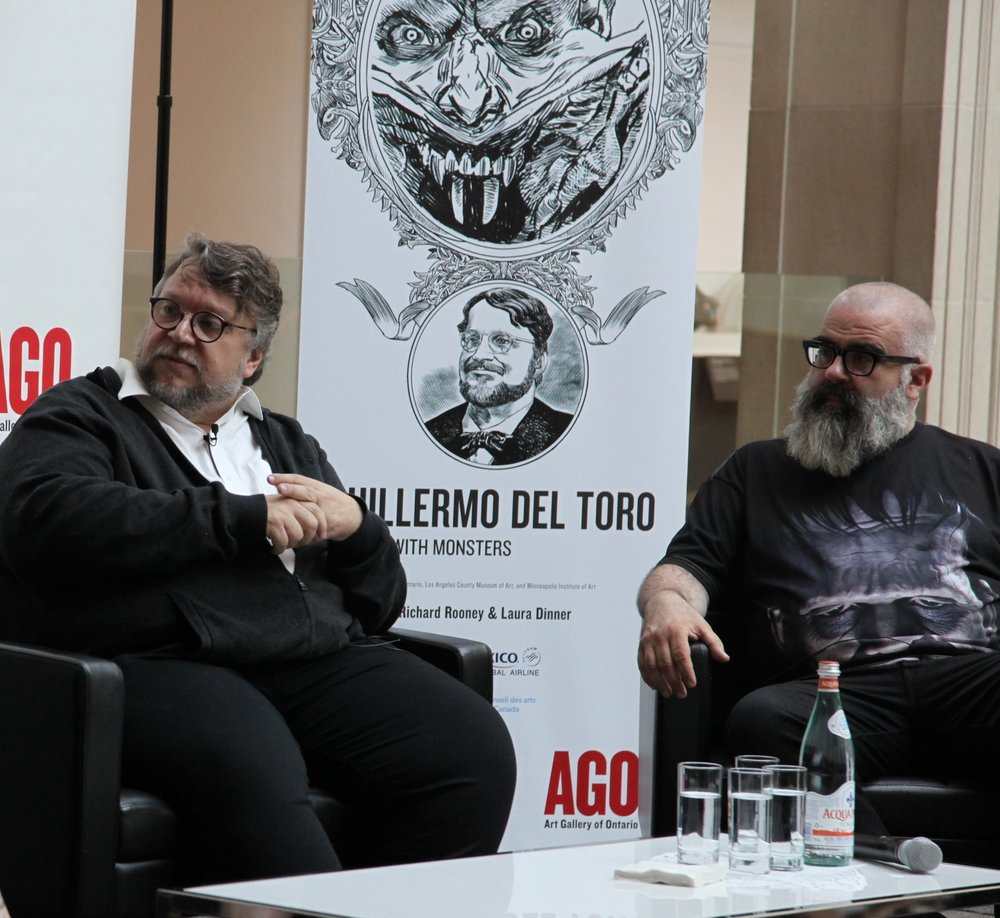 Guillermo del Toro and co-curator Jim Shedden.
