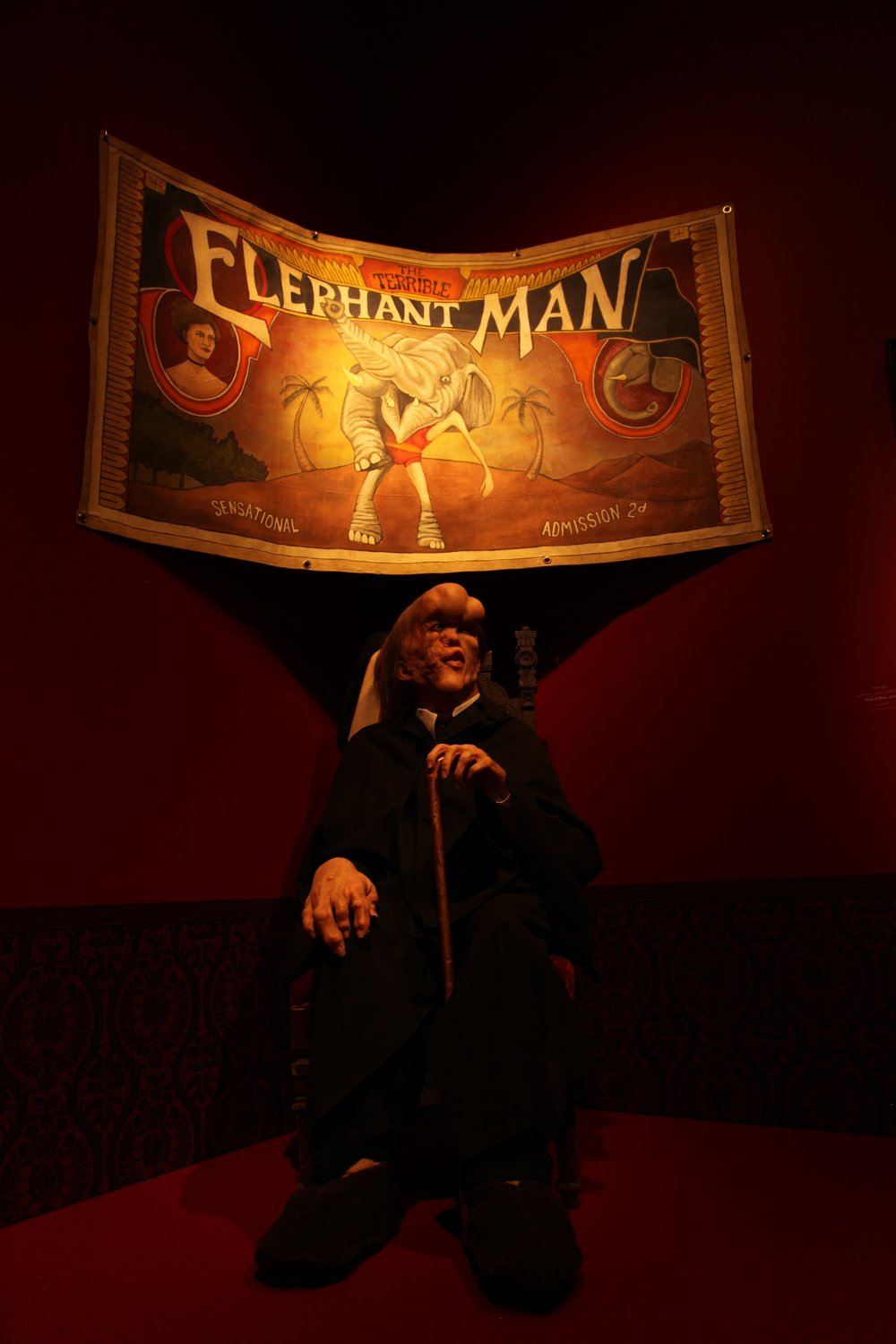 Del Toro's communion with all freaks is embodied by John Merrick, aka Elephant Man.